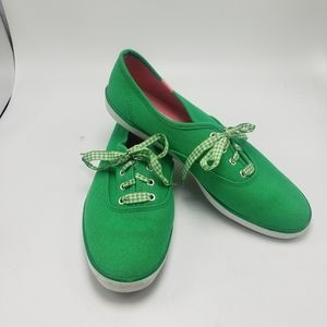 Keds Champion Green and Pink Sneakers